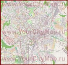 Подробная карта города Брно