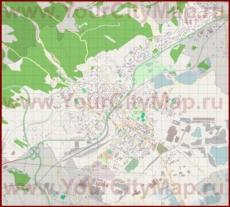 Подробная карта города Хомутов