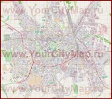 Подробная карта города Оломоуц