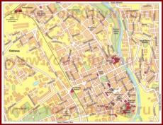 Туристическая карта Остравы с достопримечательностями