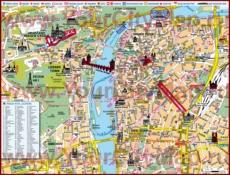 Карта отелей Праги