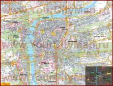 Карта Праги с отелями и достопримечательностями