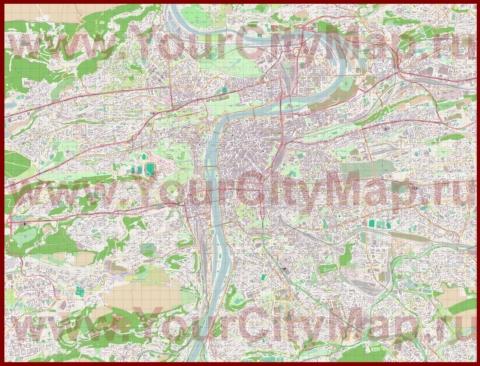 Подробная карта города Прага