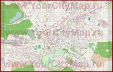 Подробная карта города Теплице