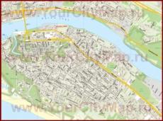 Карта центра Пярну с улицами и номерами домов