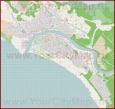 Подробная карта города Пярну