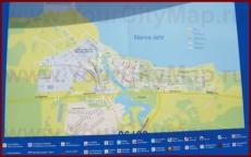 Туристическая карта Силламяэ с достопримечательностями