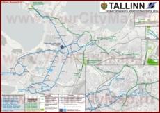 Карта маршрутов транспорта Таллина