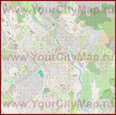 Подробная карта города Тарту