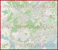 Подробная карта города Эспоо