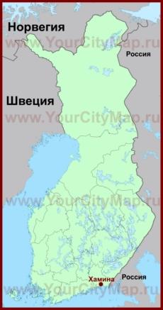 Хамина на карте Финляндии