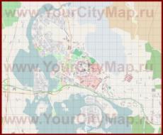 Подробная карта города Хамина с магазинами