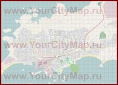 Подробная карта города Ханко