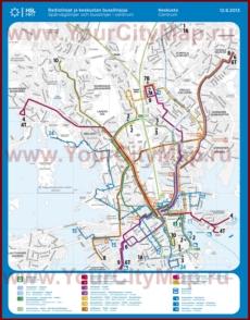 Карта маршрутов транспорта Хельсинки