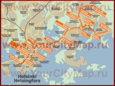 Карта метро Хельсинки