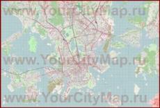 Подробная карта города Хельсинки с магазинами