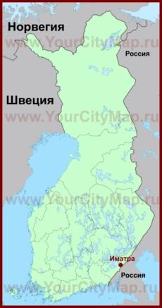 Иматра на карте Финляндии
