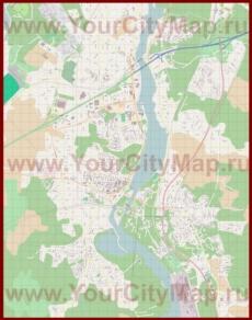 Подробная карта города Иматра с магазинами