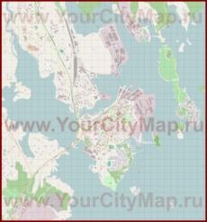Подробная карта города Котка с магазинами