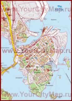 Туристическая карта Котки с достопримечательностями