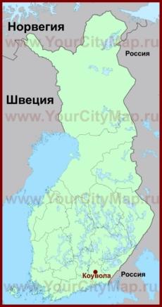 Коувола на карте Финляндии