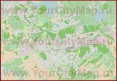 Подробная карта города Коувола с магазинами