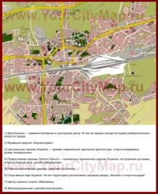 Туристическая карта Коуволы с достопримечательностями