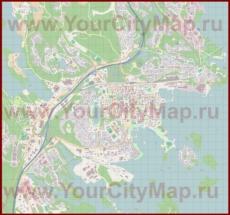 Подробная карта города Куопио