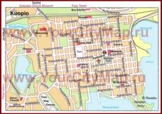 Туристическая карта Куопио с достопримечательностями