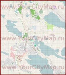 Подробная карта города Куусамо