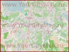 Подробная карта города Лахти с магазинами