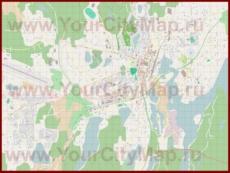 Подробная карта города Миккели с магазинами