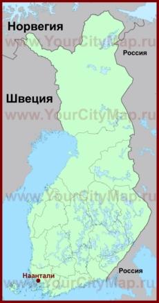Наантали на карте Финляндии