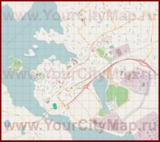 Подробная карта города Наантали