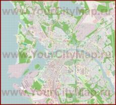 Подробная карта города Оулу
