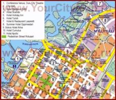 Туристическая карта Оулу с отелями