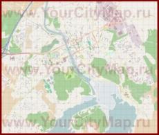 Подробная карта города Порвоо с магазинами