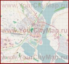 Подробная карта города Рованиеми с магазинами