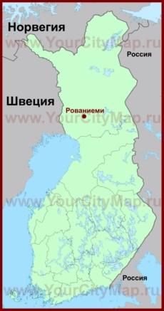 Рованиеми на карте Финляндии