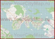 Подробная карта города Савонлинна с магазинами