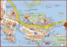 Туристическая карта Савонлинны с достопримечательностями