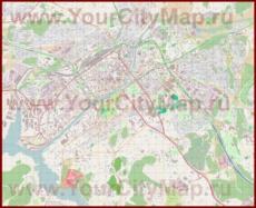 Подробная карта города Турку