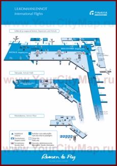 Карта аэропорта Вантаа