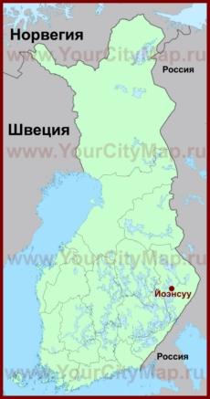 Йоэнсуу на карте Финляндии