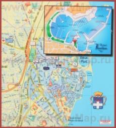 Туристическая карта Антиба с достопримечательностями