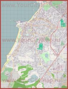 Подробная карта города Биарриц