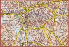 Карта Дижона с достопримечательностями