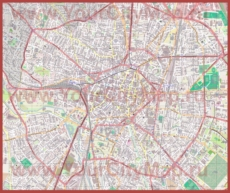 Подробная карта города Дижон