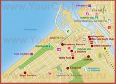 Карта отелей Довиля