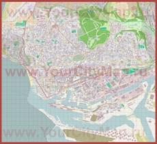 Подробная карта города Гавр